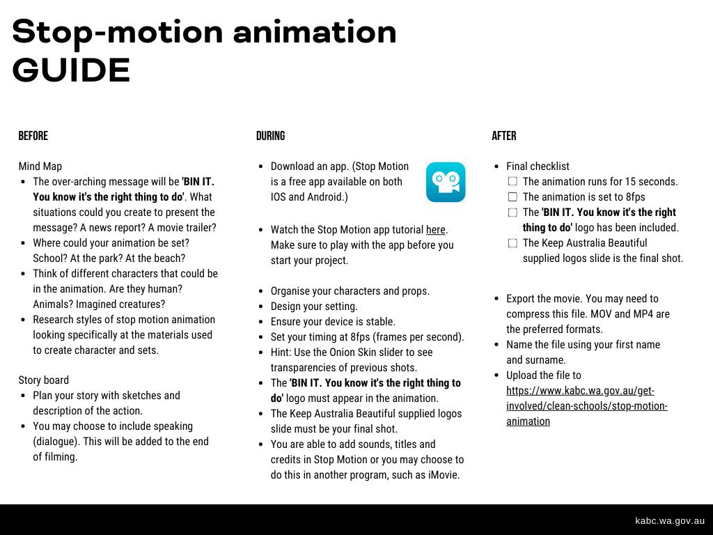 Stop Motion Animation Keep Australia Beautiful Wa