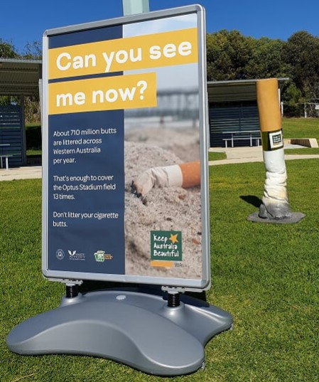 Can you see me now? About 710 million butts are littered across Western Australia each year.