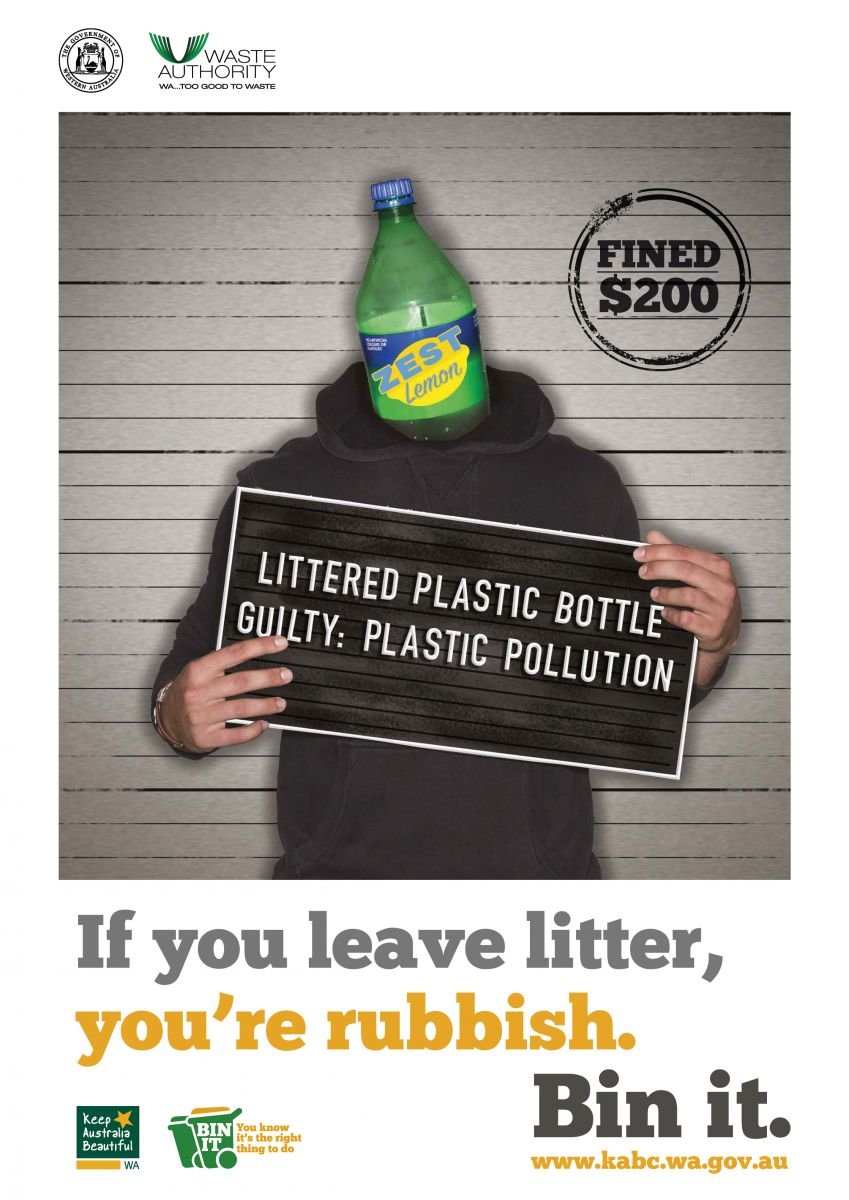 plastic bottle poster