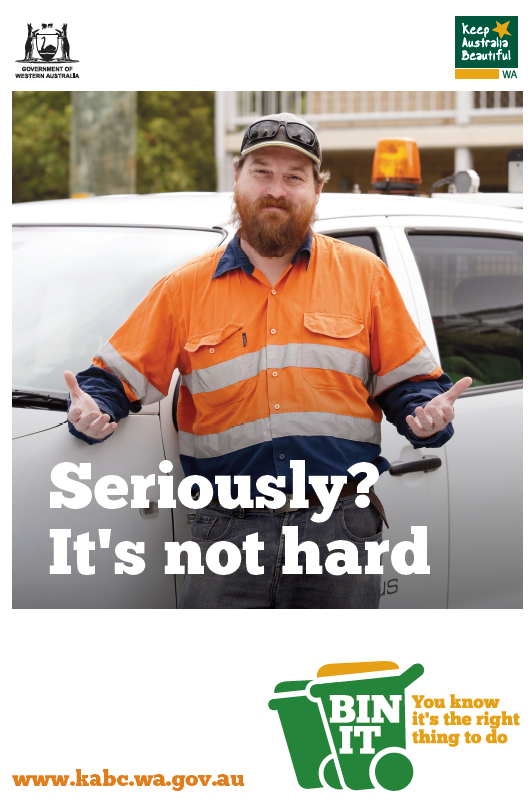 Seriously? Tradie poster