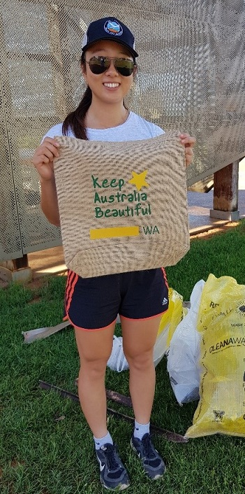 Shark bay bag with Keep Australia Beautiful