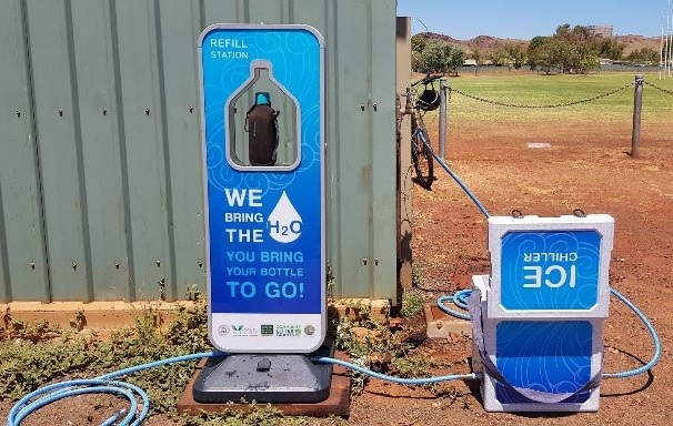 Portable filtered water station